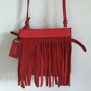 Kate Spade Saturday Red Fringe Crossbody Bag Purse